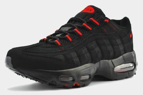 Nike Air Max 95 черные с красным