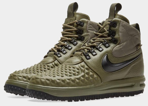 Фото Nike Lunar Force 1 Duckboot зеленые - 3