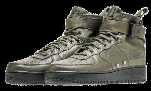 Фото Nike SF Air Force 1 Mid Зеленые - 3